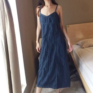 Old Navy Indigo Dark Wash Dress. -I1.
